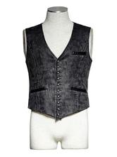 Anime Costumes AF-S2-648397 Men's Steampunk Costume Vest Vintage Retro Clothing Button Gilet
