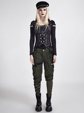 Anime Costumes AF-S2-648393 Women's Steampunk Clothing Vintage Pants Green Retro Costume