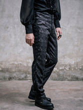Anime Costumes AF-S2-648409 Men's Steampunk Pants Black Vintage Retro Costume Jacquard Pants