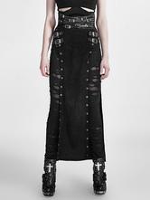 Anime Costumes AF-S2-648391 Women's Steampunk Skirt Vintage Gothic Black Split Buckle Costume Skirt