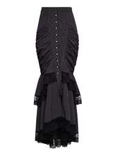 Anime Costumes AF-S2-648395 Women's Steampunk Clothing Vintage Mermaid Skirt Lace Pleated Retro Costume