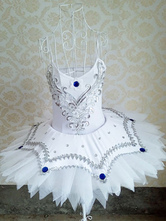 Anime Costumes AF-S2-649109 White Ballet Dress Beading Tutu Dance Dress Ballet Camisole Leotard Dress