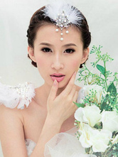 Anime Costumes AF-S2-649069 White Feather Headpiece Pearl Ballet Costume Hairpin