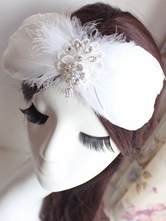 Anime Costumes AF-S2-649079 White Feather Headpiece Ballet Costume Hairpin