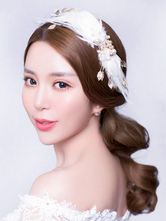 Anime Costumes AF-S2-649083 Ballet Feather Headpiece White Pearl Hairpin