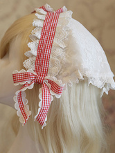 Lolitashow Sweet Lolita bandeau dentelle Bow Lolita Plaided casque