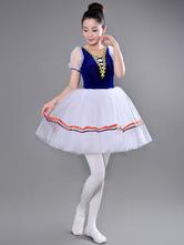 Anime Costumes AF-S2-649089 Ballet Tutu Dress Illusion Short Sleeve Ballet Dance Party Dresses