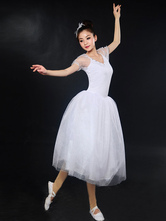 Anime Costumes AF-S2-649099 White Ballet Dress Illusion Sleeve Ballet Dance Costume Party Dresses