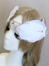 Anime Costumes AF-S2-649063 Ballet Headpiece Set White Feather Chain Headband With Hairpin