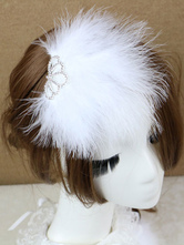 Anime Costumes AF-S2-649065 White Feather Headpiece Crown Ballet Costume Hairpin