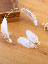 Anime Costumes AF-S2-649081 Ballet Headpiece Set White Feather Headband With Hairpin