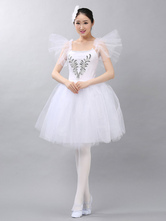 Anime Costumes AF-S2-649091 Ballet Tutu Dress White Beading Ballet Dance Party Dresses