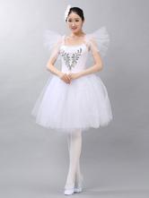Anime Costumes AF-S2-649091 Ballet Tutu Dress White Beading Ballet Dance Party Dresses