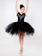 Anime Costumes AF-S2-649087 Black Ballet Dress Beading Tutu Dress Faux Fur Camisole Party Dresses