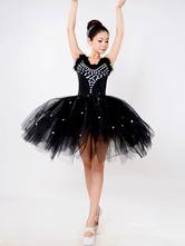 Anime Costumes AF-S2-649087 Black Ballet Dress Beading Tutu Dress Faux Fur Camisole Party Dresses