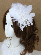 Anime Costumes AF-S2-649059 Lace Feather Headpiece White Ballet Costume Hairpin