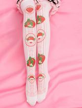 Lolitashow Medias de lolita rosaestilo dulce