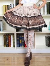 Lolitashow Sweet Lolita Socks Pinks Printed Lolita Stocking