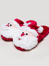 Anime Costumes AF-S2-651961 Kigurumi Pajamas Christmas Santa Claus Footwear Onesie Red Cotton Sleepwear Accessories