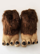 Anime Costumes AF-S2-651951 Kigurumi Pajamas Brown Wild Man Footwear Faux Fur Costume Accessories