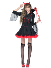 Anime Costumes AF-S2-653909 Sexy Devil Halloween Costume Black Dress Demon Costume For Women