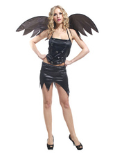 Anime Costumes AF-S2-653893 Sexy Black Devil Costume With Angel Wing