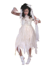 Anime Costumes AF-S2-654043 Halloween Corpse Bride Costume White Women's Mummy Costume