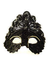 Anime Costumes AF-S2-653847 Halloween Black Mask Masquerade Women's Eye Mask Costume Accessories