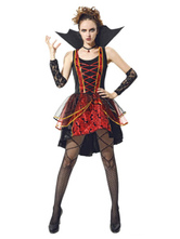 Anime Costumes AF-S2-653927 Halloween Adult Vampire Costume Women's Black And Red Fancy Dress Outfits
