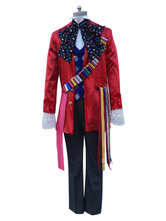 Anime Costumes AF-S2-654031 Halloween Alice In Wonderland Costume Men's Mad Hatter Cosplay Costume