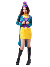Anime Costumes AF-S2-654029 Halloween Alice In Wonderland Costume Women's Mad Hatter Cosplay Costume