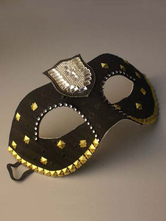 Anime Costumes AF-S2-653855 Black Masquerade Mask Costume Halloween Women's Studded Mardi Gras Eye Mask Costume Accessories