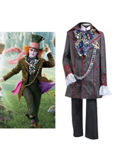 Anime Costumes AF-S2-654023 Halloween Alice In Wonderland Costume Men's Mad Hatter Cosplay Costume