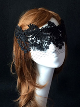 Anime Costumes AF-S2-653853 Lace Masquerade Mask Black Halloween Women's Mardi Gras Net Eye Mask Costume Accessories
