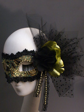 Anime Costumes AF-S2-653867 Gold Masquerade Mask Women's Net Flowers Mardi Gras Eye Mask 2 Colors Halloween Costume Accessories
