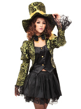 Anime Costumes AF-S2-654021 Halloween Alice In Wonderland Costume Women's Mad Hatter Cosplay Costume