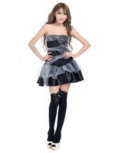 Anime Costumes AF-S2-653895 Halloween Sexy Demon Costume Black Strapless Polyester Fancy Dress Outfits