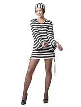 Anime Costumes AF-S2-653935 Sexy 2 Piece Polyester Prisoner Costume For Women