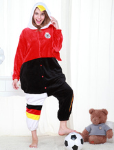 Anime Costumes AF-S2-654623 Kigurumi Pajamas World Cup Germany Onesie Black And Red Football Theme Sleepwear Costume For Adults
