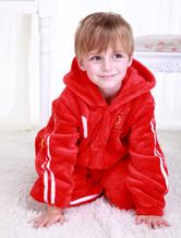 Anime Costumes AF-S2-654609 Kigurumi Pajamas World Cup Chinese Football Team Onesie Red Long Sleeve Sleepwear Costume For Kids