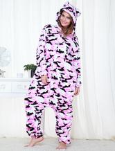 Anime Costumes AF-S2-654571 Adult Onesie Pajamas Purple Camo Military Kigurumi Costume Sleepwear