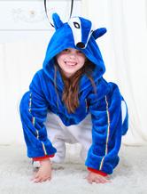 Anime Costumes AF-S2-654621 Kigurumi Pajamas World Cup Italy Onesie Blue Football Theme Sleepwear Costume For Kids
