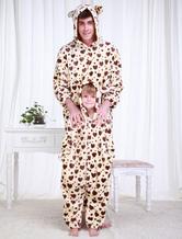Anime Costumes AF-S2-654599 Kigurumi Pajamas Dalmatian Onesie Snuggie For Adult Khaki Animal Sleepwear