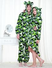 Anime Costumes AF-S2-654587 Kigurumi Pajamas Military Onesie Snuggie For Adult Camo Green Sleepwear