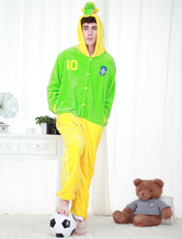 Anime Costumes AF-S2-654611 Kigurumi Pajamas World Cup Brazil Onesie Grass Green Sleepwear Costume For Adults