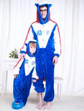 Anime Costumes AF-S2-654615 Kigurumi Pajamas World Cup England Football Team Onesie Blue Sleepwear Costume For Adults