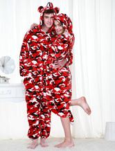 Anime Costumes AF-S2-654583 Kigurumi Pajamas Military Onesie Snuggie For Adult Camo Red Sleepwear