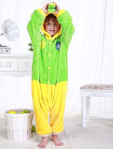 Anime Costumes AF-S2-654613 Kigurumi Pajamas World Cup Brazil Onesie Grass Green Sleepwear Costume For Kids
