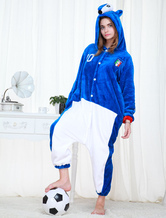 Anime Costumes AF-S2-654619 Kigurumi Pajamas World Cup Italy Onesie Blue Football Theme Sleepwear Costume For Adults