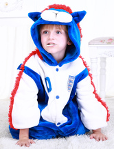 Anime Costumes AF-S2-654617 Kigurumi Pajamas World Cup England Football Team Onesie Blue Sleepwear Costume For Kids